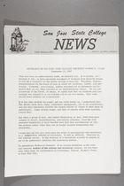 Statement by San Jose State College President Robert D. Clark, September 21, 1967