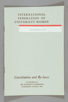 Constitution and By-Laws as Revised by the Sixteenth Conference, Karlsruhe, August 1968