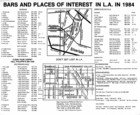 Map of Bars and Places of Interest in L.A. in 1984