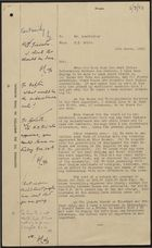 British Legation Minutes from C. I. Smith to Mr. Leadbitter re: West Indian Communities in Bocas del Toro, March 16, 1950