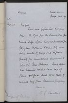 Decypher from A. G. Vansittart to the Marquis of Salisbury, January 6, 1897