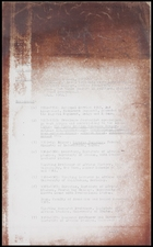 2 pages of curriculum vitae. Name illegible