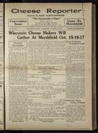 Cheese Reporter, Vol. 54, no. 5, Saturday, October 12, 1929