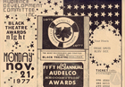 Flyer for the 5th annual Audelco Black Theatre Awards