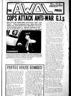 AWOL: The Underground GI Newspaper, Volume 1, Issue 17, AWOL, Vol. 1 no. 17, 1970
