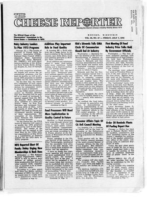 Cheese Reporter, Vol. 95, no. 47, Friday, July 7, 1972