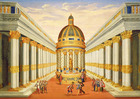 Act I, scenes VII and VIII: Baccus' Temple (oil on canvas)