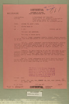 Confidential Message from USARMA Tel Aviv Isreael to Deptar Wash DC, June 17, 1957