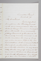 Letter from Sarah Pugh to William Lloyd Garrison, October 18, 1878