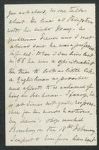 Incomplete Letter from Arbella Cooke, Undated