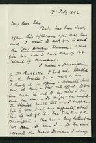 Letter from Robert Anderson to Edith Thompson, February 1892