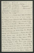 Letter from Alice Cooke to Arbella Winter Cooke, September 1