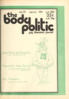 The Body Politic no. 15, September/October 1974