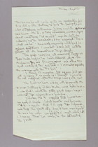 Handwritten Note by Ruth Lois Hill, August 16th, 1952