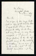 Letter from Thomas French to Samuel Pratt Winter, November 13, 1869