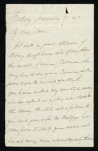 Incomplete Letter to My dear Sam, November 3, 1847