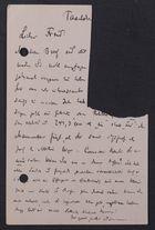 [Partial] Postcard from David Simonsen to Markus Brann, July 22, [1913]