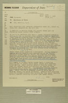 Telegram from William E. Cole, Jr. in Jerusalem to Secretary of State, March 9, 1956