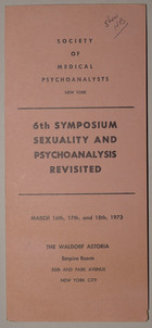 6th Symposium: Sexuality and Psychoanalysis Revisited