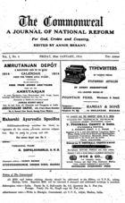 The Commonweal: A Journal of National Reform for God, Crown and Country, Vol. I, No. 4, 23 Jan. 1914