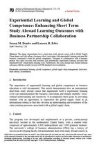 Experiential Learning and Global Competence: Enhancing Short Term Study Abroad Learning Outcomes with Business Partnership Collaboration