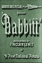 Babbitt (1934): Shooting script