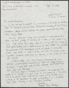 Copy of Letter to Senator William Armstrong forwarded to Preserve Our Poudre, January 25, 1984