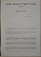 Congrès International de Sexologie Médicale - International Congress of Medical Sexology (Contraception and Sexuality - Contraception Et Sexualité) - Paris 1974