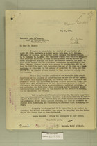 Combined Correspondence Discussing Use of Army Troops to Enforce Customs Law, May 4 and 11, 1920