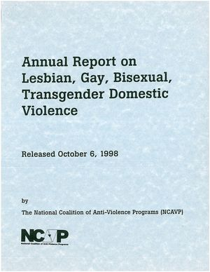 1998 Annual Report on Lesbian, Gay, Bisexual, Transgender Domestic Violence