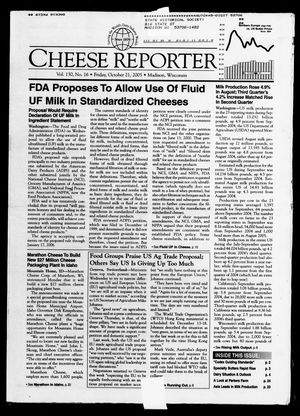 Cheese Reporter, Vol. 130, No. 16, Friday, October 21, 2005