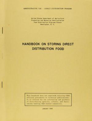 Handbook on Storing Direct Distribution Food