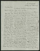 Letter from Robert Anderson to Edith Thompson, April 29, 1917