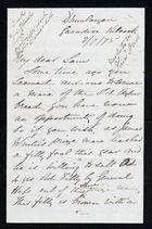 Letter from John F. Bomford, August 7, 1875