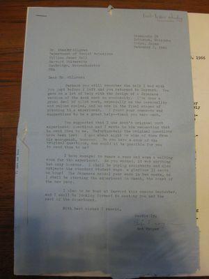 Robert Frager to Stanley Milgram, February 2, 1966