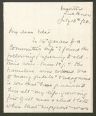 Letter from M.E.B. Howitt to Edith Thompson, July 13, 1928