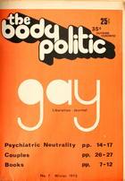 The Body Politic no. 7, Winter 1973