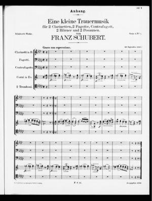 Anhang: Eine kleine Trauermusik