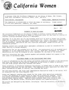 California Women: Bulletin, August 1977