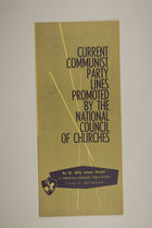 Current Communist Party Lines Promoted by the National Council of Churches