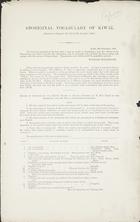 Aboriginal Vocabulary of Kiwai. [Enclosure to Despatch No. 113 of 9th December, 1889]