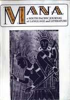 MANA: A South Pacific Journal of Language and Literature, Vol. 10, No. 1