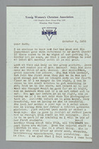 Letter from Clara Davies Brown to Ruth Lois Hill, October 6, 1958