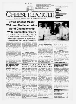 Cheese Reporter, Vol. 130, No. 38, Friday, March 24, 2006