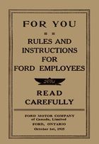 For You: Rules and Instructions for Ford Employees