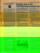 Alderman Schulter Reports, Spring 1986