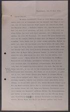 Letter from David Simonsen to Markus Brann, June 29, 1915