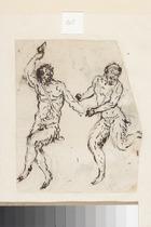 Satyrs (pen & brown ink on paper)