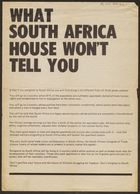 What South Africa House Won't Tell You (Pg.Int.Aam.42)