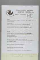 Curriculum Vitae of Mildred Persinger, International Women's Tribune Centre